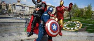 Супергерои прогулялись по Киеву