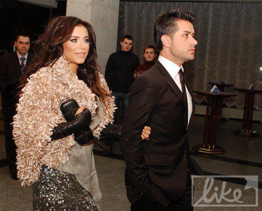 Ани Лорак с мужем на вручении музыкальной премии YUNA