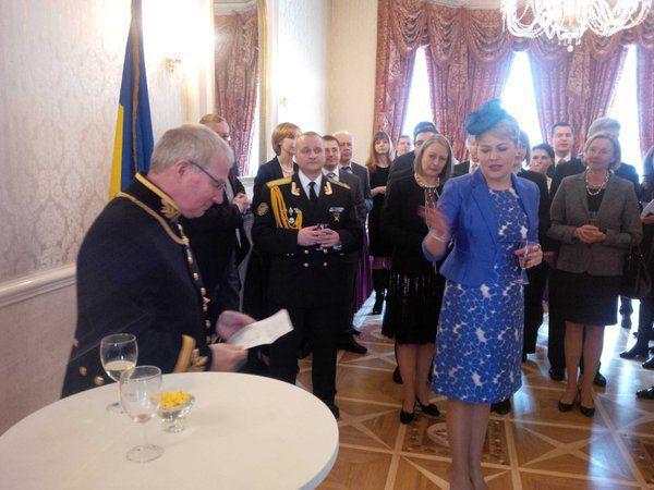 Наталья Галибаренко на дипломатическом приеме после вручения грамот