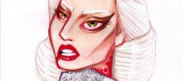 Леди Гага потрясла кровавым снимком