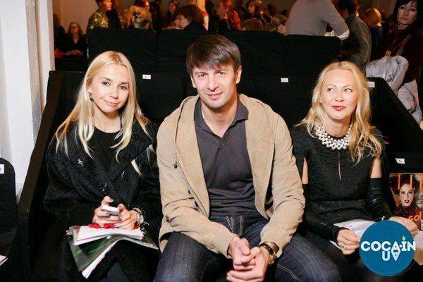 Ирина Турбаевская с футболистом Александром Шовковским и дизайнером Ольгой Аленовой
