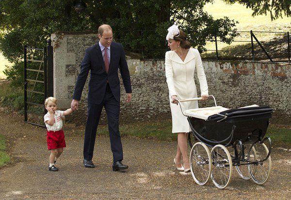 Кейт Миддлтон, принц Уильям, принц Георг и принцесса Шарлотта