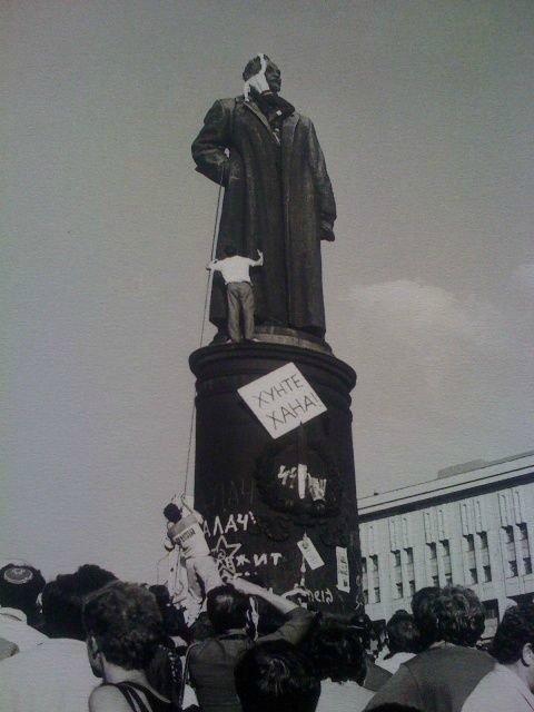 Атака на памятник Дзержинскому
