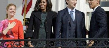 """Обама устроил званый ужин в честь """"самого сексуального политика"""" канадского премьера Трюдо"""