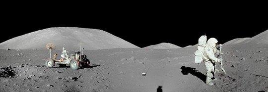 НАСА, «Панорама Луны с астронавтами Appolo-17»