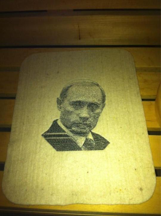 На Владимира Путина Глюкоза предпочитает садится попой