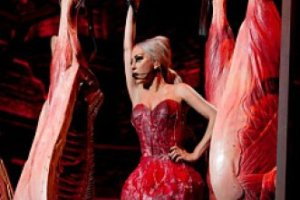 Леди Гага показала новое мясное платье