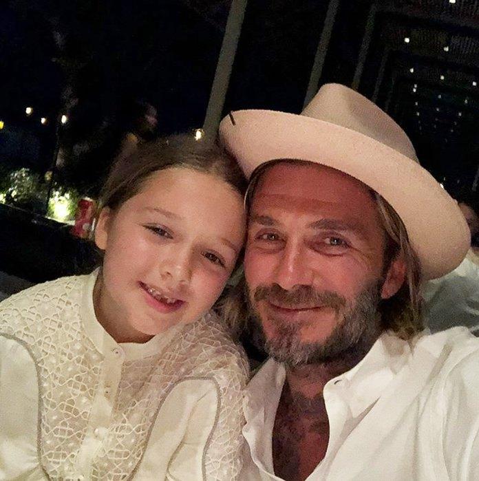 Дэвид Бэкхем с дочкой