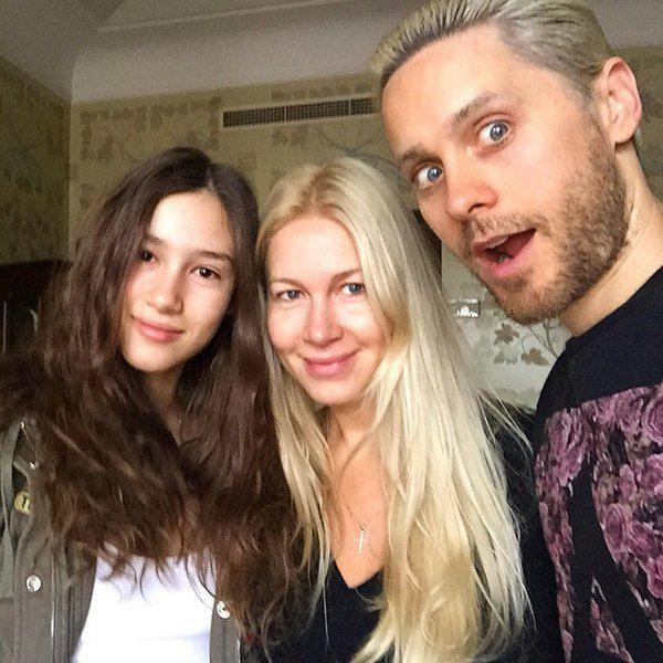 Джаред Лето и Екатерина Одинцова с дочерью Диной