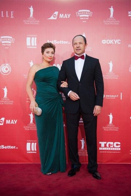 Виктория Тигипко в последнее время выходит в свет вместе с мужем Сергеем Тигипко только на своем кинофестивале