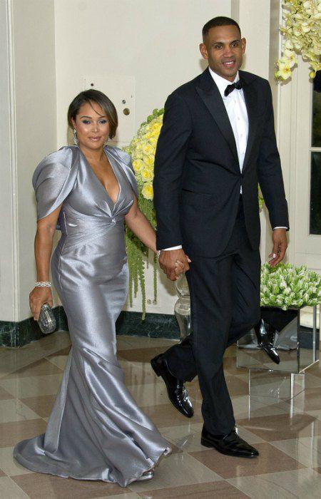 Игрок НБА Грант Хилл с супругой