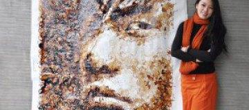Портреты из кофе и семечек