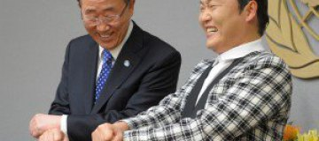 "Генсек ООН и рэпер PSY станцевали в ""Gangnam style"""