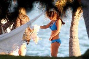 Жена Уэйна Руни сверкнула формами в Майами