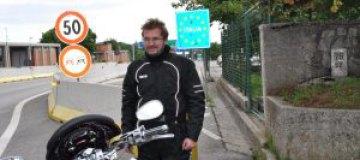 Пономарев разъезжает по Европе на мотоцикле