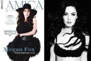 Меган Фокс в кружевном белье снялась для модного журнала
