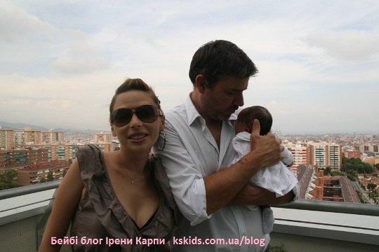 Ирена и ее муж Норман с малышкой