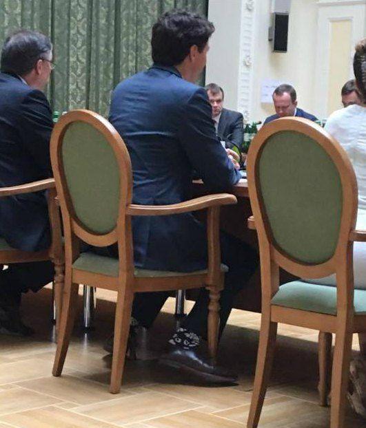 Джастин Трюдо на встрече с украинским коллегой - премьером Владимиром Гройсманом