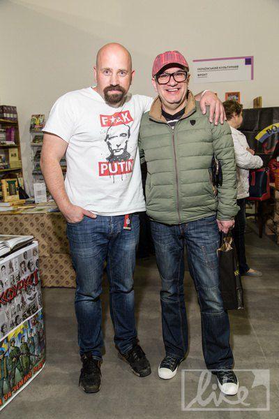 Шоумен Дмитрий Оськин (справа)