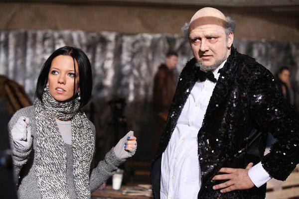 Ирина Горовая и Потап на съемочной площадке