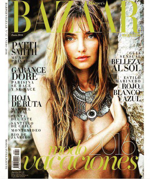 Алина Байкова на обложке Harper's Bazaar