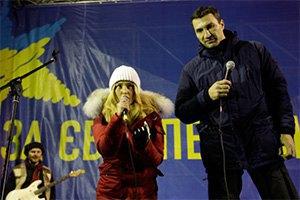 Хайден Панеттьери посетила Майдан