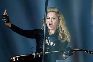 Мадонна на концерте в Киеве материлась
