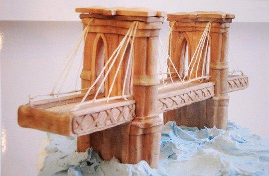 Торт в виде Бруклинского моста