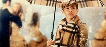 12-летний сын Бекхэма стал моделью Burberry