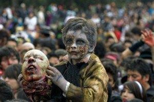 На Филиппинах прошел чемпионат по бегству от зомби