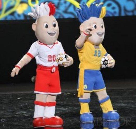 Официальные талисманы Евро-2012