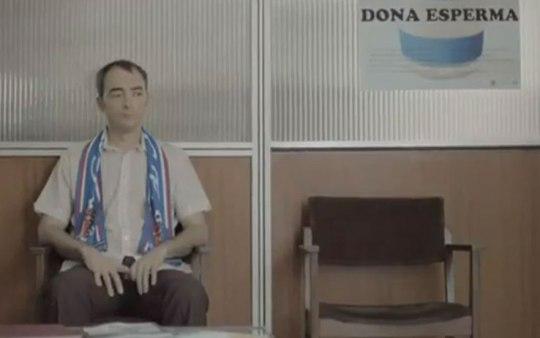 Кадр из промо-ролика кампании по сбору спермы