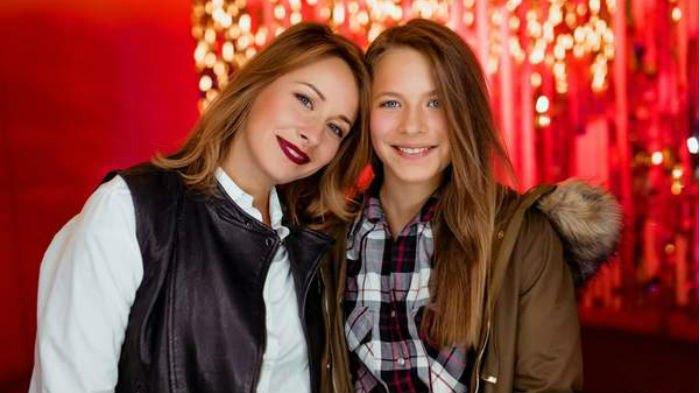 Елена Кравец с дочерью Марией