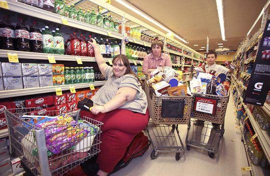 """А это Сьюзан уже на пути к своей """"вершине"""" ожирения"""