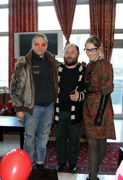 Ксения Собчак с Иваном Охлобыстиным и Тимуром Бекмамбетовым