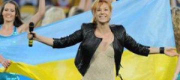 Tarabarova выступила на футбольном поле