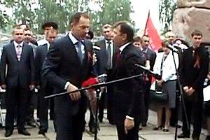 На поздравлении ветеранов Ляшко получил пинок от Рудьковского