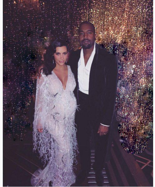 Ким с мужем Канье Вестом