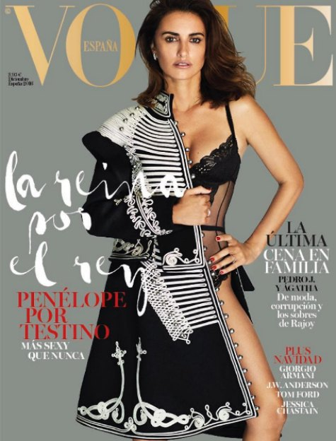 Пенелопа Крус на обложке декабрьского Vogue