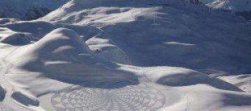 Знаки на снежных полях