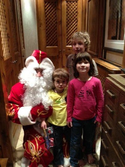 Новогоднее фото детей