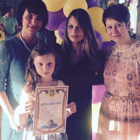 Фреймут с дочкой и ее учителями