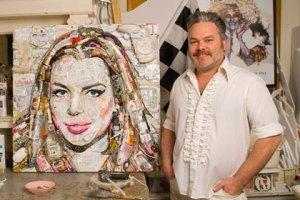 Портрет Линдсей Лохан собрали из мусора