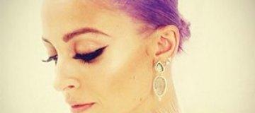 Николь Ричи покрасила волосы в фиолетовый цвет