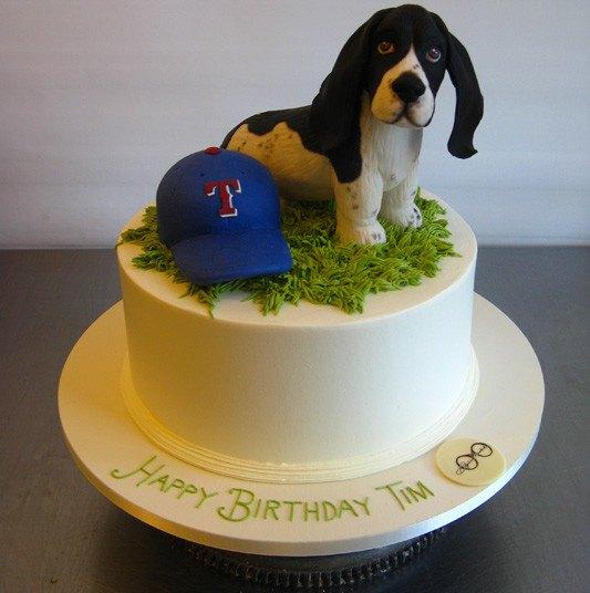 Торт для любителей собак, в частности, бассет-хаундов