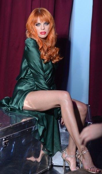 Анастасия Стоцкая на съемках нового клипа