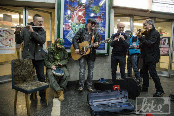 Борис Гребенщиков с киевскими музыкантами