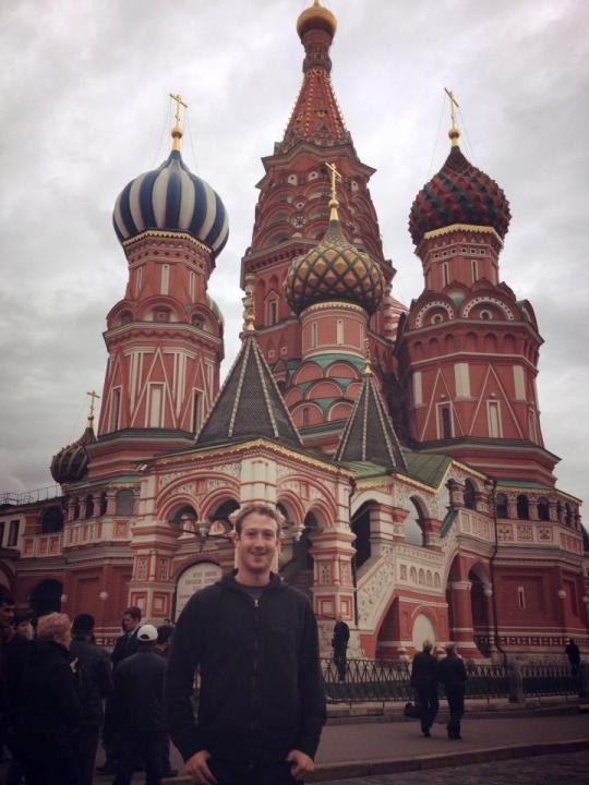 Основатель социальной сети Facebook приехал в Москву