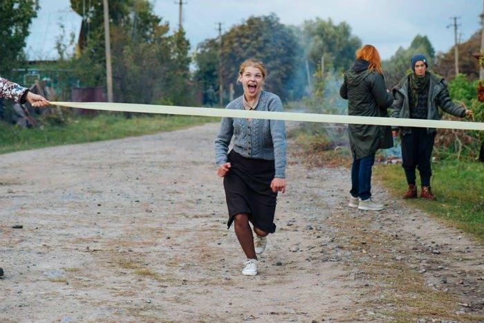 Анастасія Пустовіт на знімальному майданчику