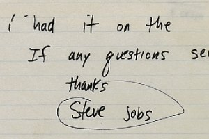 Служебную записку Стива Джобса продадут с аукциона